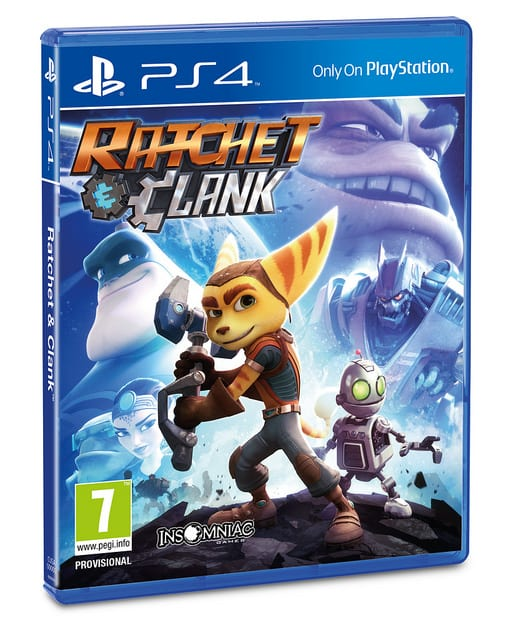 Ratchet and Clank Playstation 4 box art