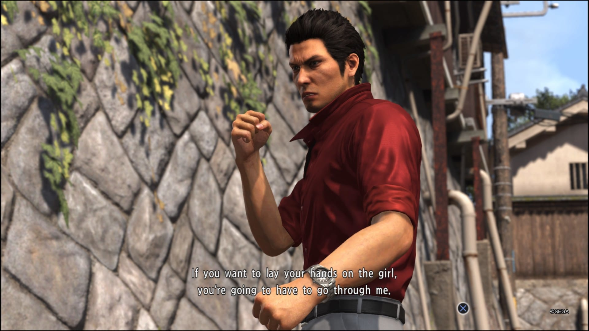 Yakuza 6 Song of Life Fight Stance