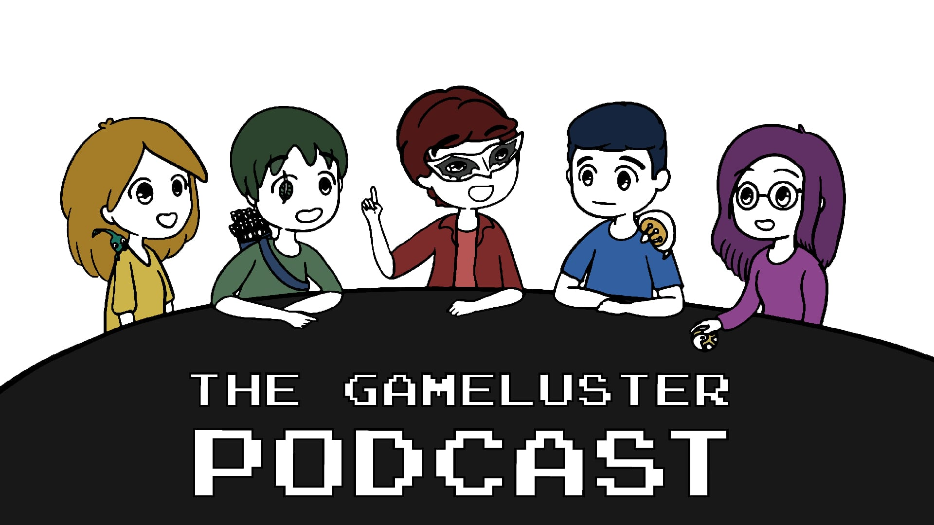 The GameLuster Podcast art, by Christine McGahhey (featured image)