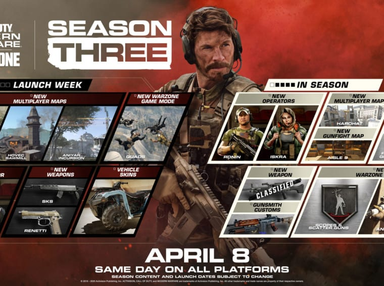 Call Of Duty: Modern Warfare Season 3 Launches Today