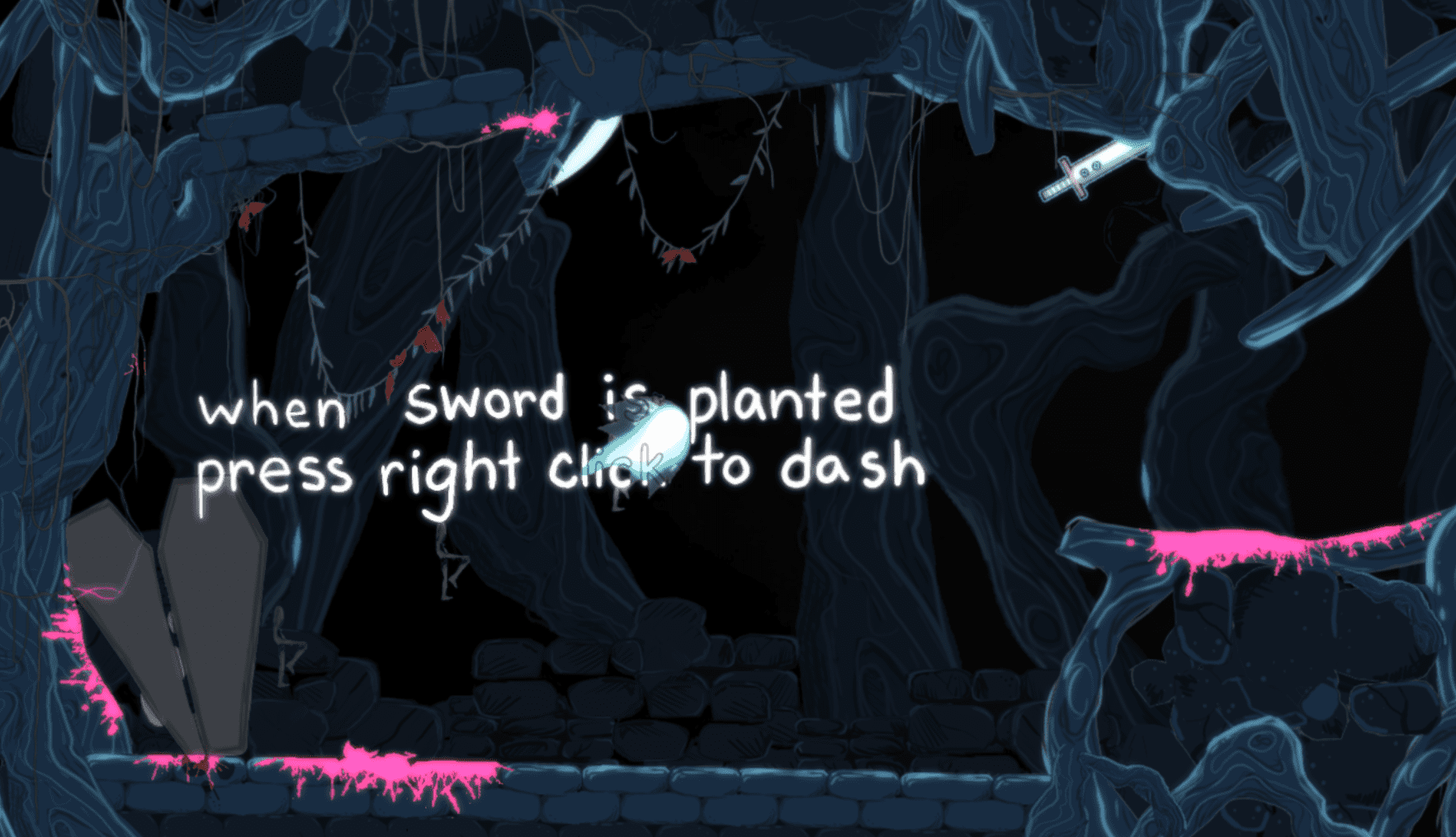 Throw and Dash, the simple mechanics open up to complex platforming and puzzles