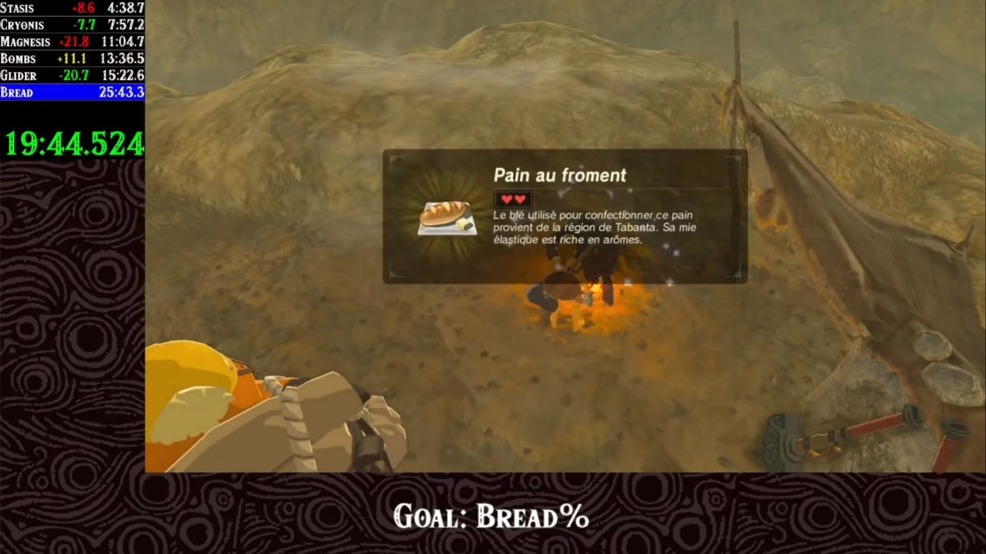 Breath of the wild bread percent