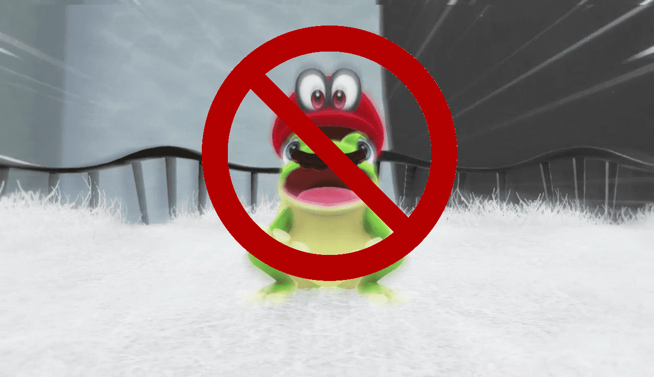 No turning Mario in frogs, dinosaurs, chain chomps, not even dudes in suits.