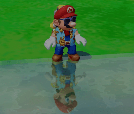 Sunglasses are too cool to show up in reflections, don't you know.