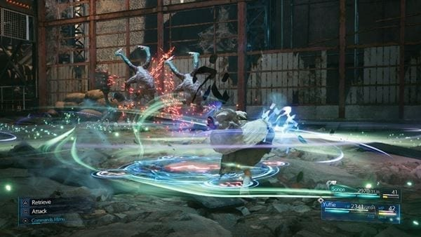 Yuffie will be able to use brand new abilties like Windstorm to gain the upper hand in combat