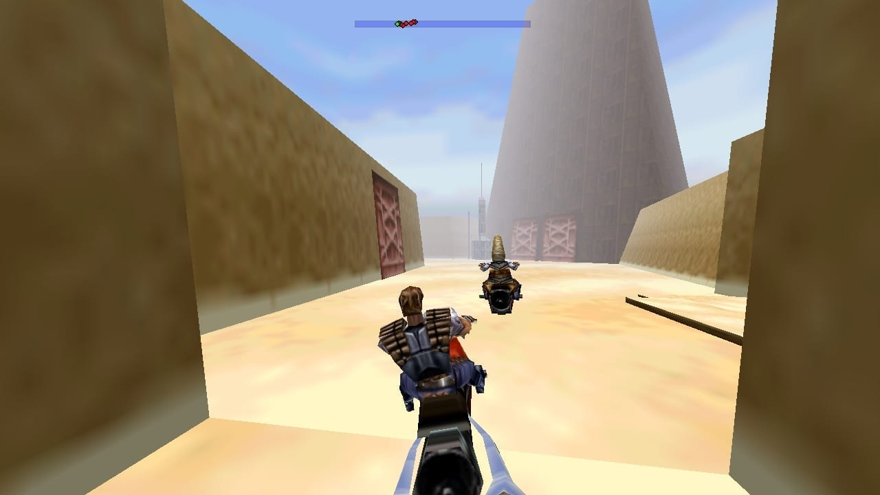 Racing through the streets of Mos Eisley, make sure not to miss the hidden rabbit!