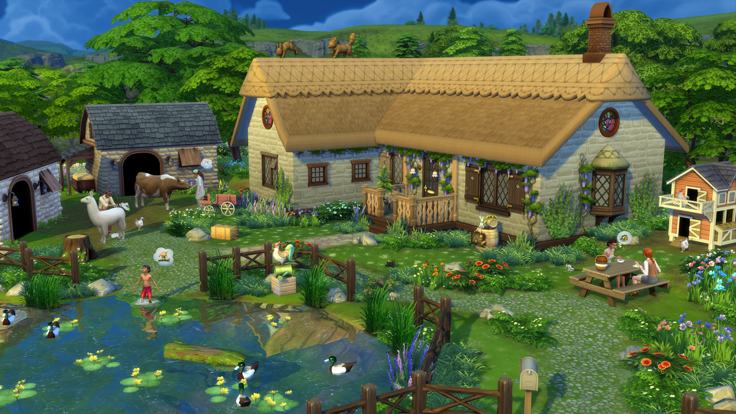 The Sims 4 Cottage Living exterior