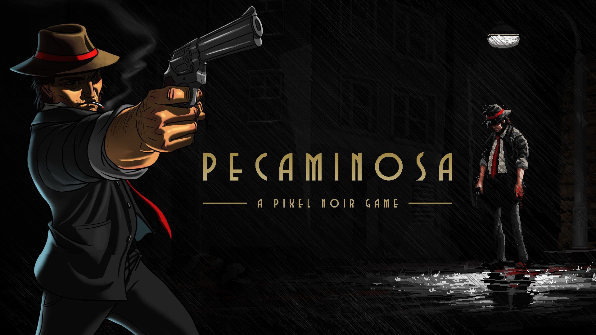 Pecaminosa Cover Art, showing Johnny Souza in two art styles