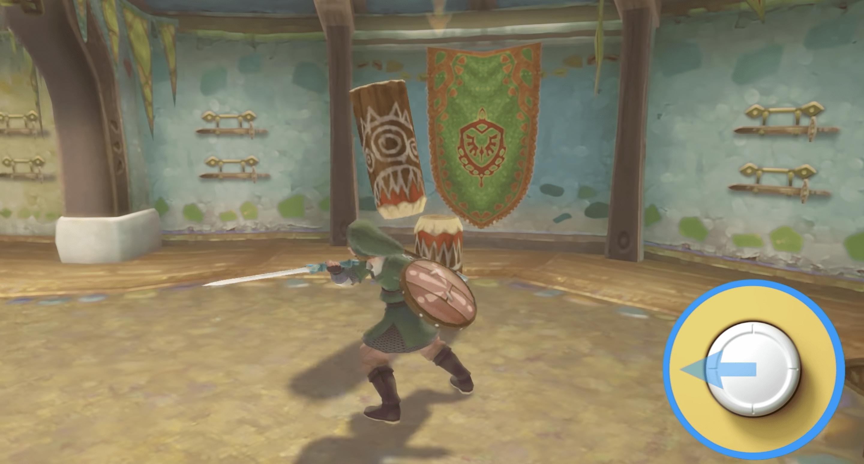 Link using control sticks to control his sword in Skyward Sword rather than motion controls