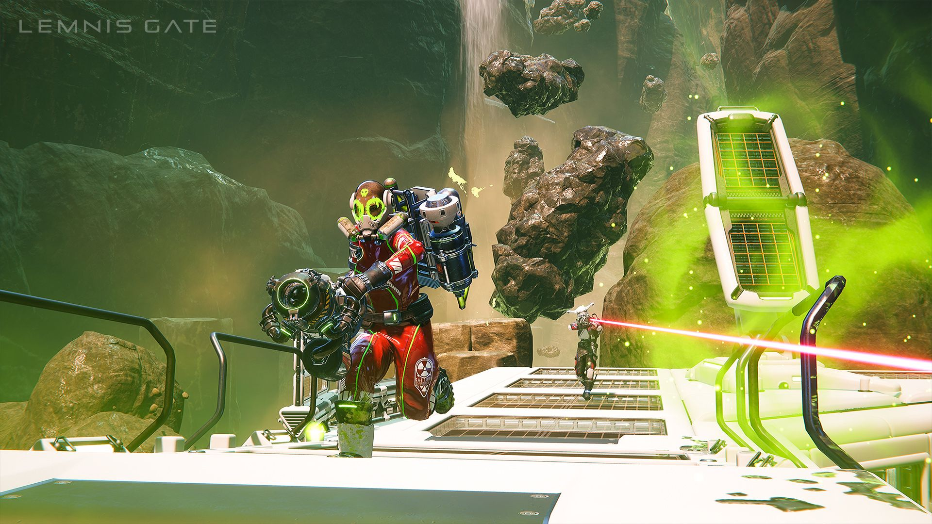 A screenshot of Toxin who can poison any area in Lemnis Gate, and is just one of the seven operatives