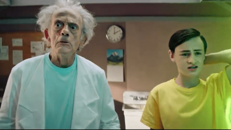 Christopher Lloyd As Rick In Live-Action Rick and Morty Clip.